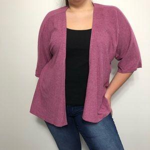 LuLaRoe Pink Soft Open Front Short Sleeve Cardigan